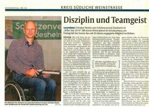 Stiller Star 2014Portrait Rheinpfalz 01.06.2015