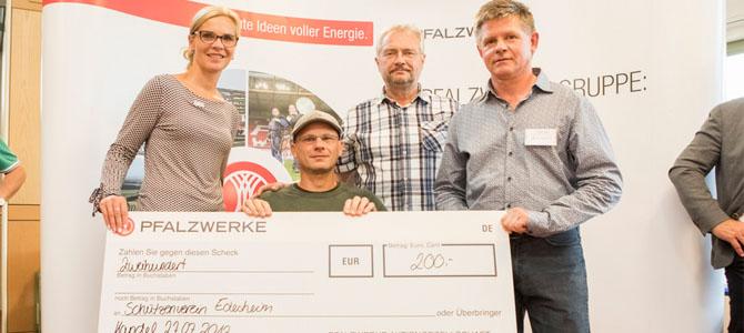 Pfalzwerke – Preisübergabe an den Schützenverein